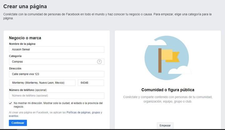 como hacer una pagina de facebook