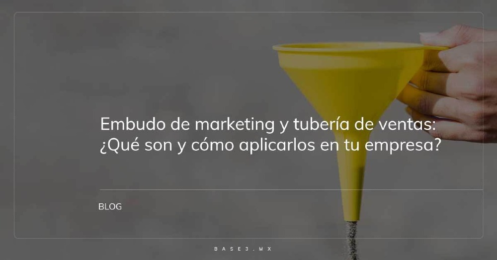 embudo de marketing y tubería de ventas